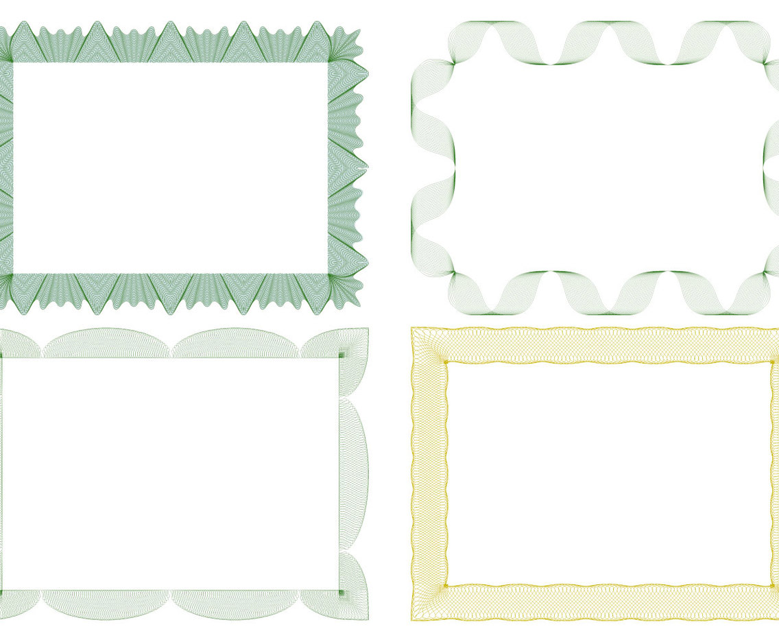 Guilloche Style Border Collection