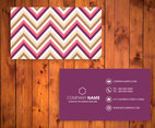 Chevron Business Card Template