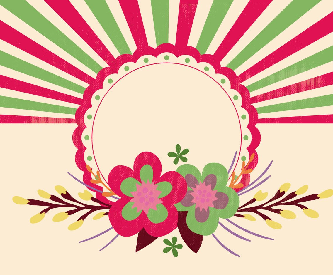 Cute Floral Background Illustration