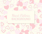 Cute Pink Hearts Pattern Background