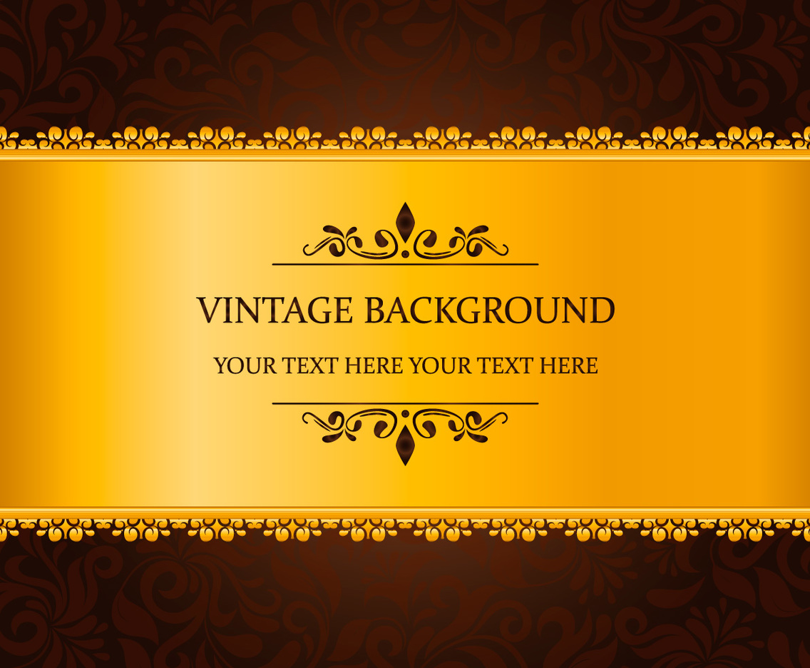 Gold Vintage Background