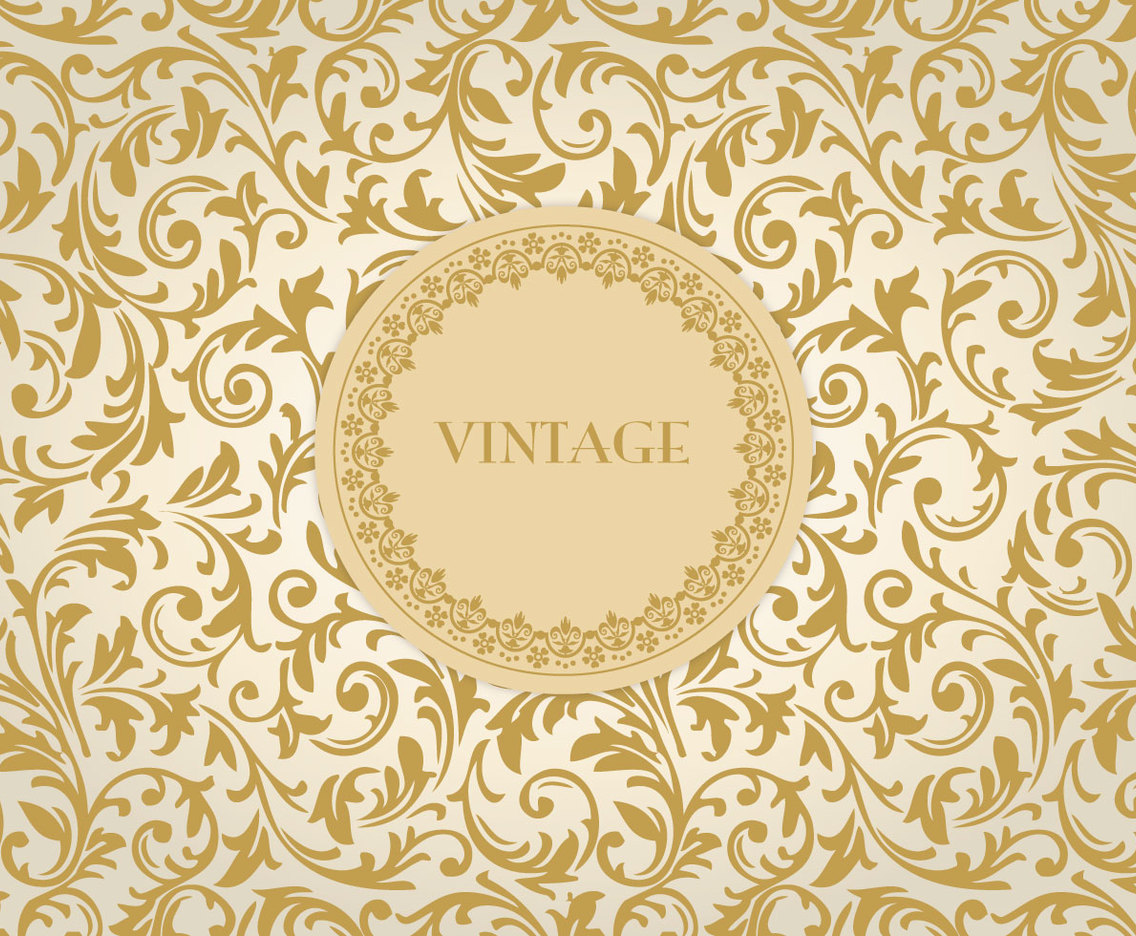 Gold Vintage Floral Background Vector Art Graphics Freevector Com