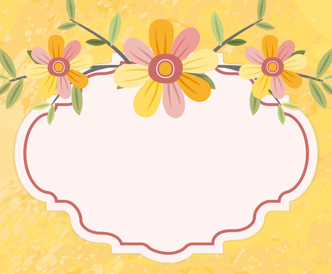 Beautiful Yellow Floral Illustration