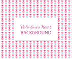 Cute Valentine's Hearts Background