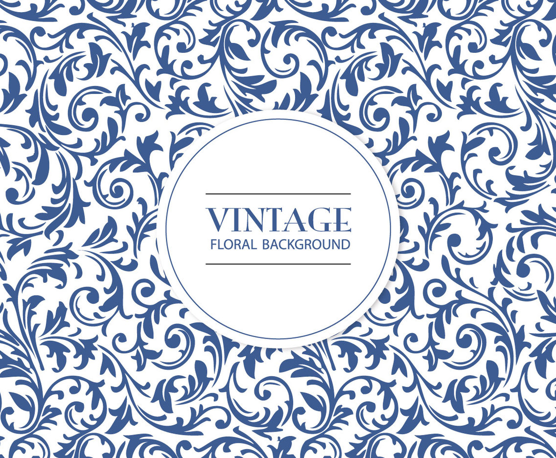 Vintage Floral Pattern Background Vector Art Graphics
