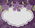 Beautiful Purple Floral Illustration