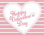 Pink Stripe Valentine's Day Background