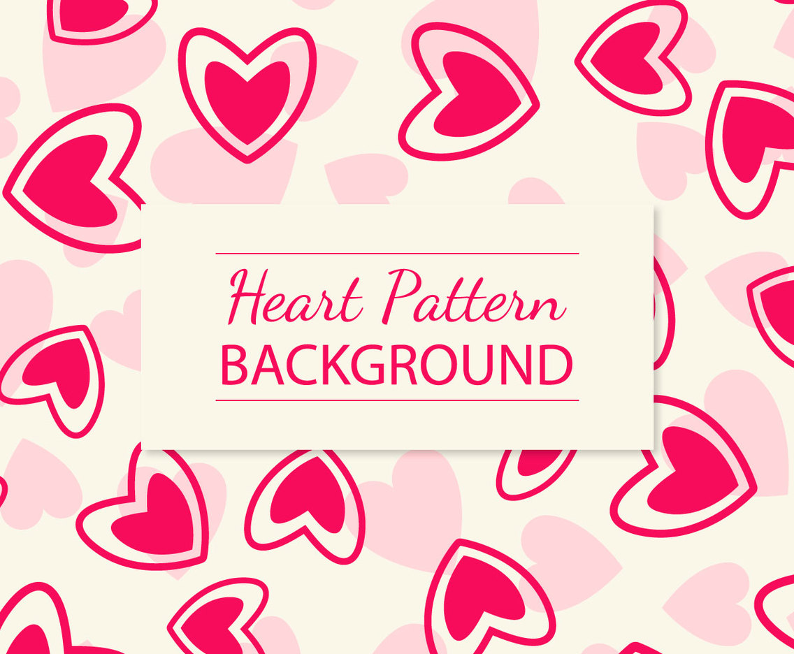Hot Pink Heart Pattern Background