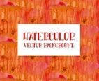 Beautiful Bright Orange Watercolor Background