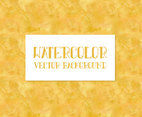 Yellow Watercolor Vector Background