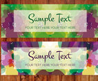 Painterly Flower Abstract Banners