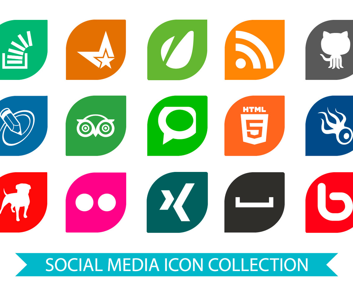 Bright Social Media Icon Collection