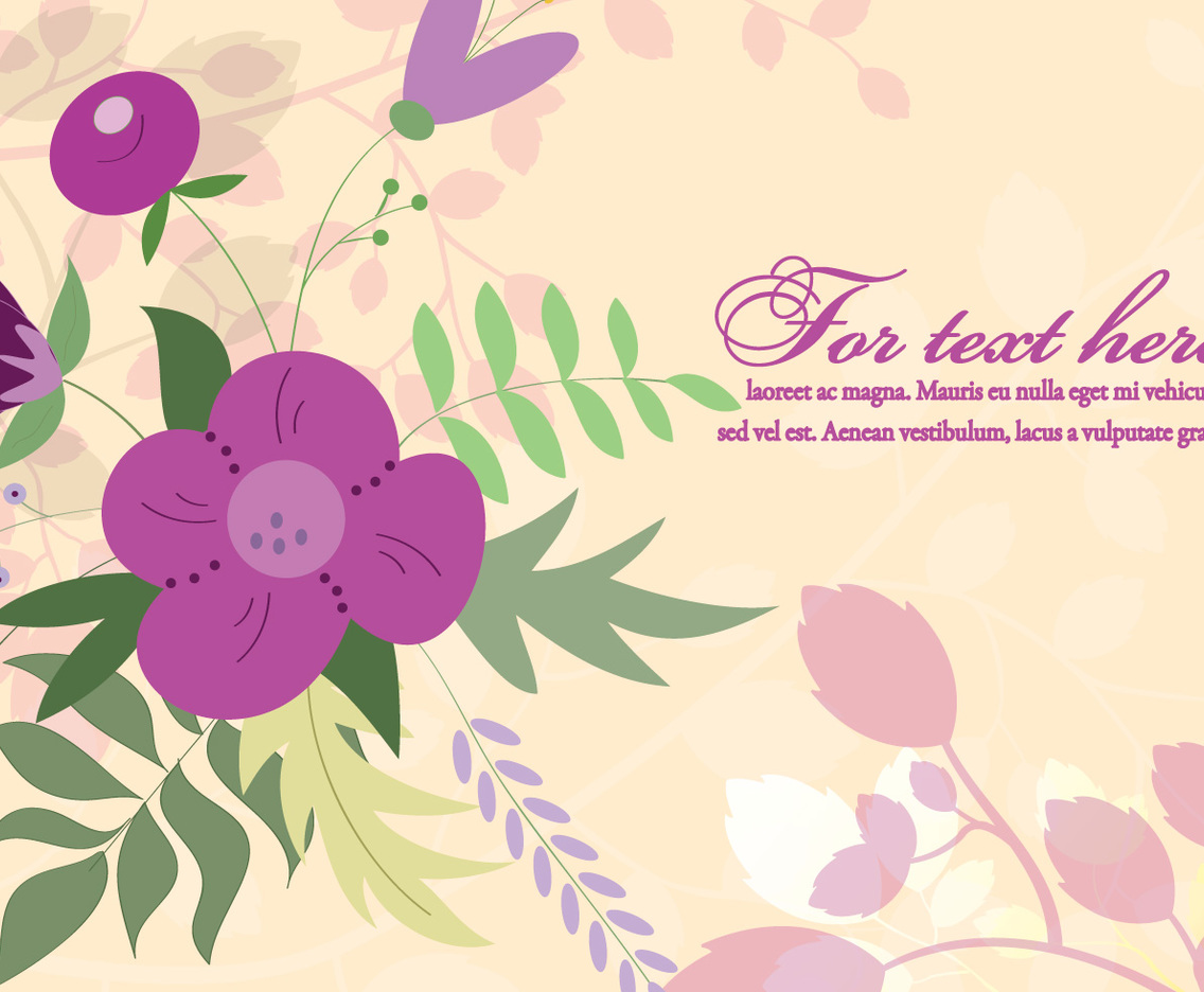 Purple Floral Background Illustration