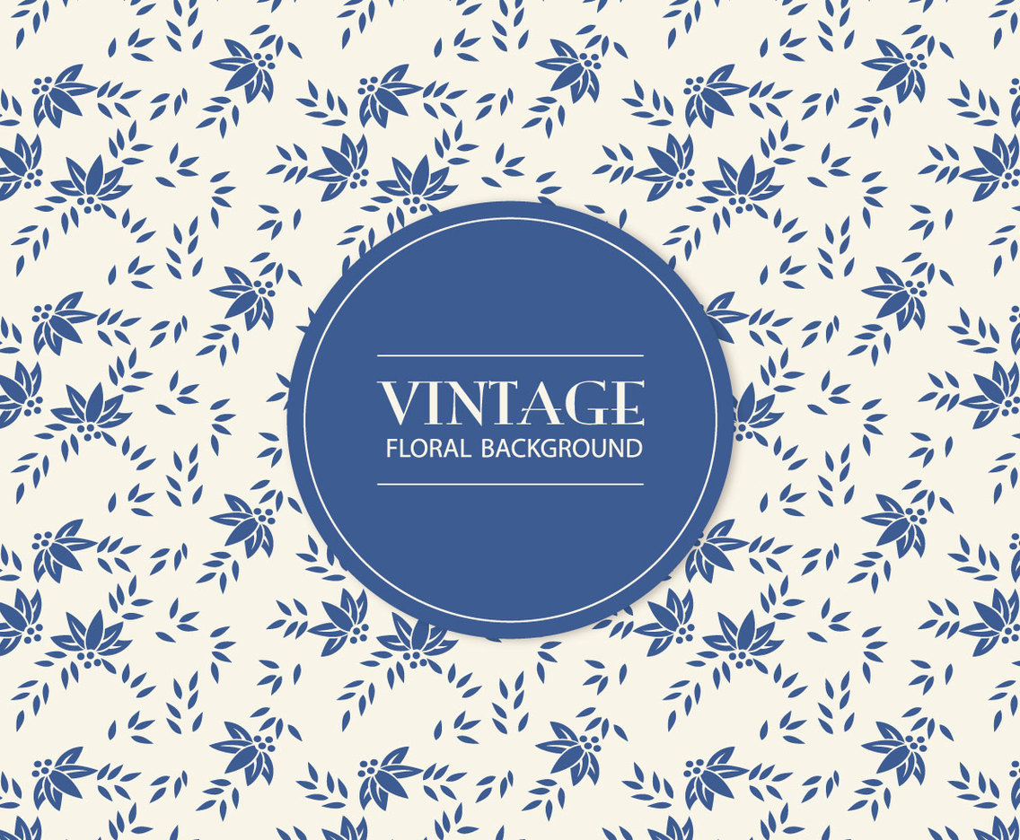 Blue Vintage Floral Background Vector Art Graphics Freevector Com