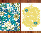 Beautiful Floral Wedding Card Illustration