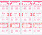 Cute Pocket Calendar Cards Collection