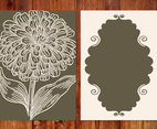 Vintage Flower Card Template
