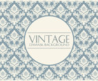 Elegant Blue/Cream Damask Background