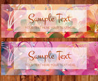 Abstract Floral Banners