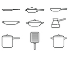 Pan and Pot Linear Icon