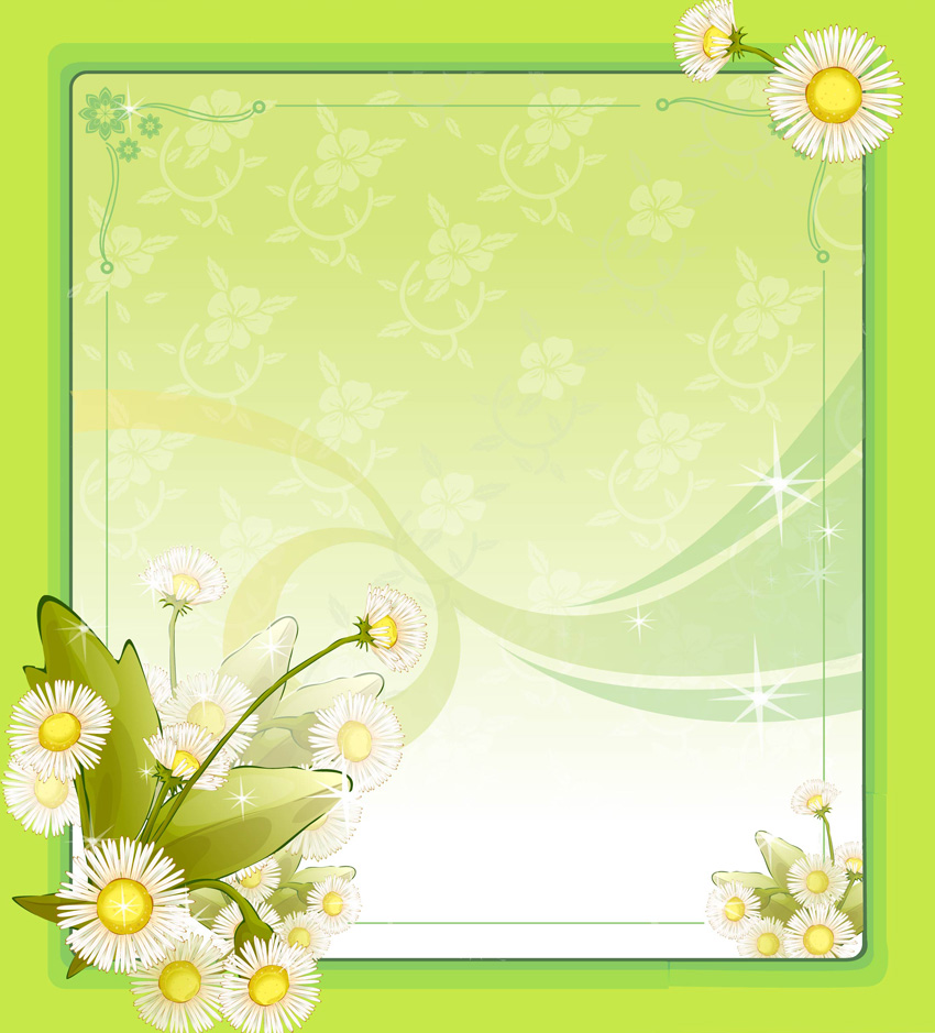 free green floral frame - photo #23