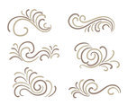 Hand Drawn Curlicues Ornament Vectors