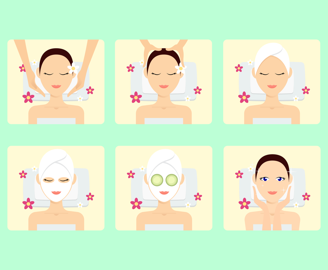 Beautiful Spa Treatment Vector