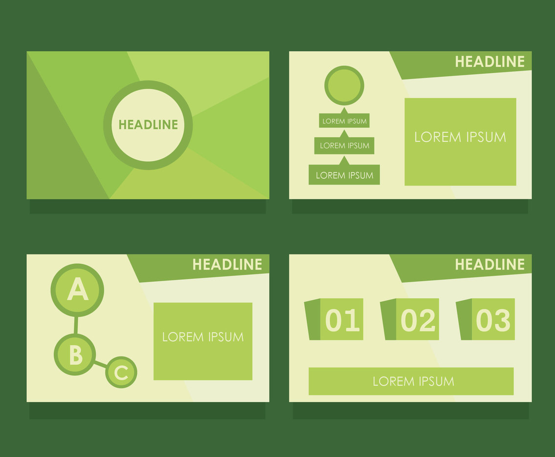 Green Powerpoint Template Vector