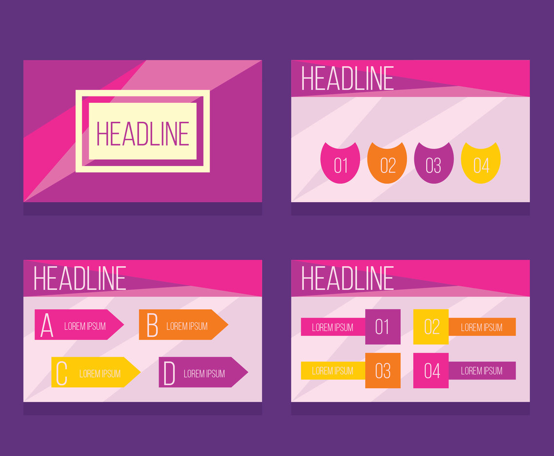 Great Powerpoint Template Vectors