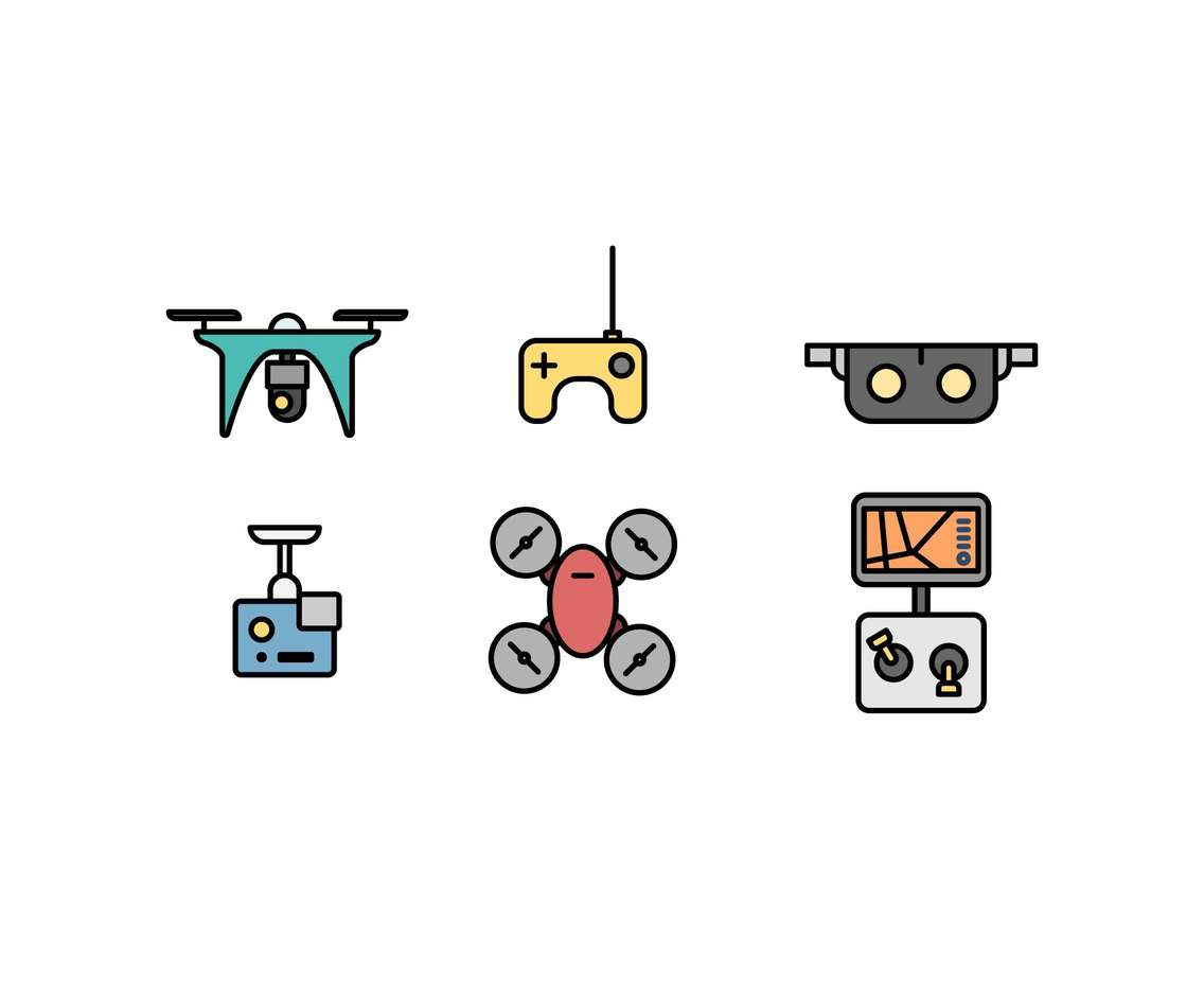 Free Unique Flying Camera Drone Vectors