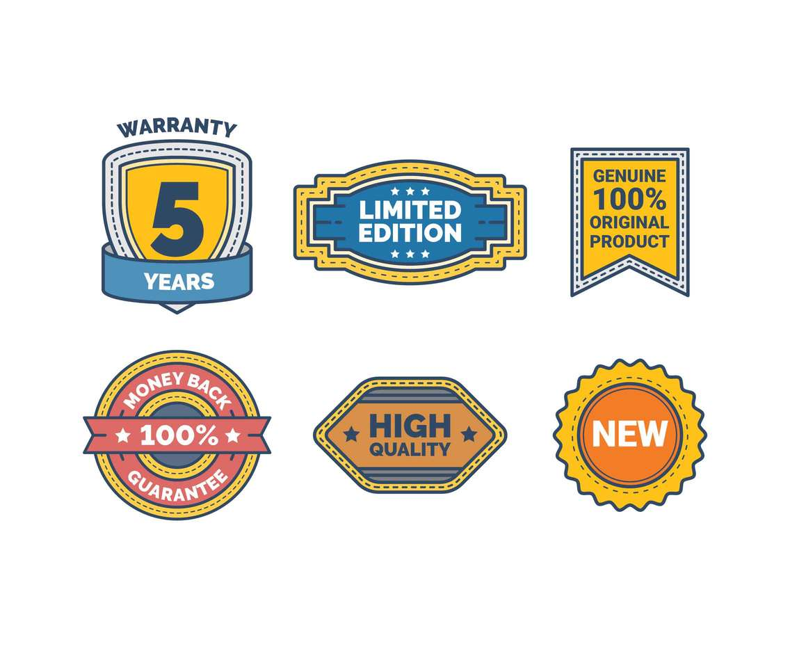 Free Professional Product Label Sticker Vectors