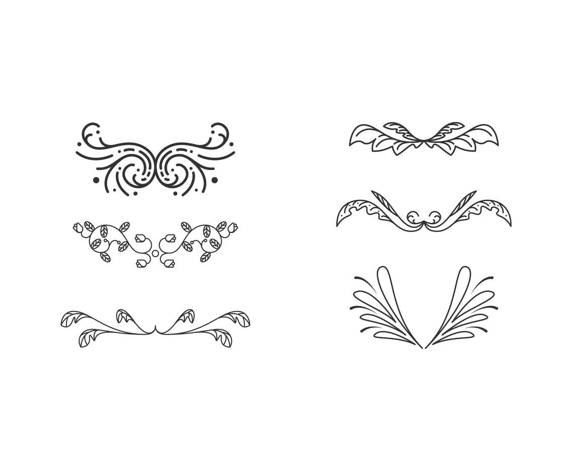 Free Beautiful Accent Vectors