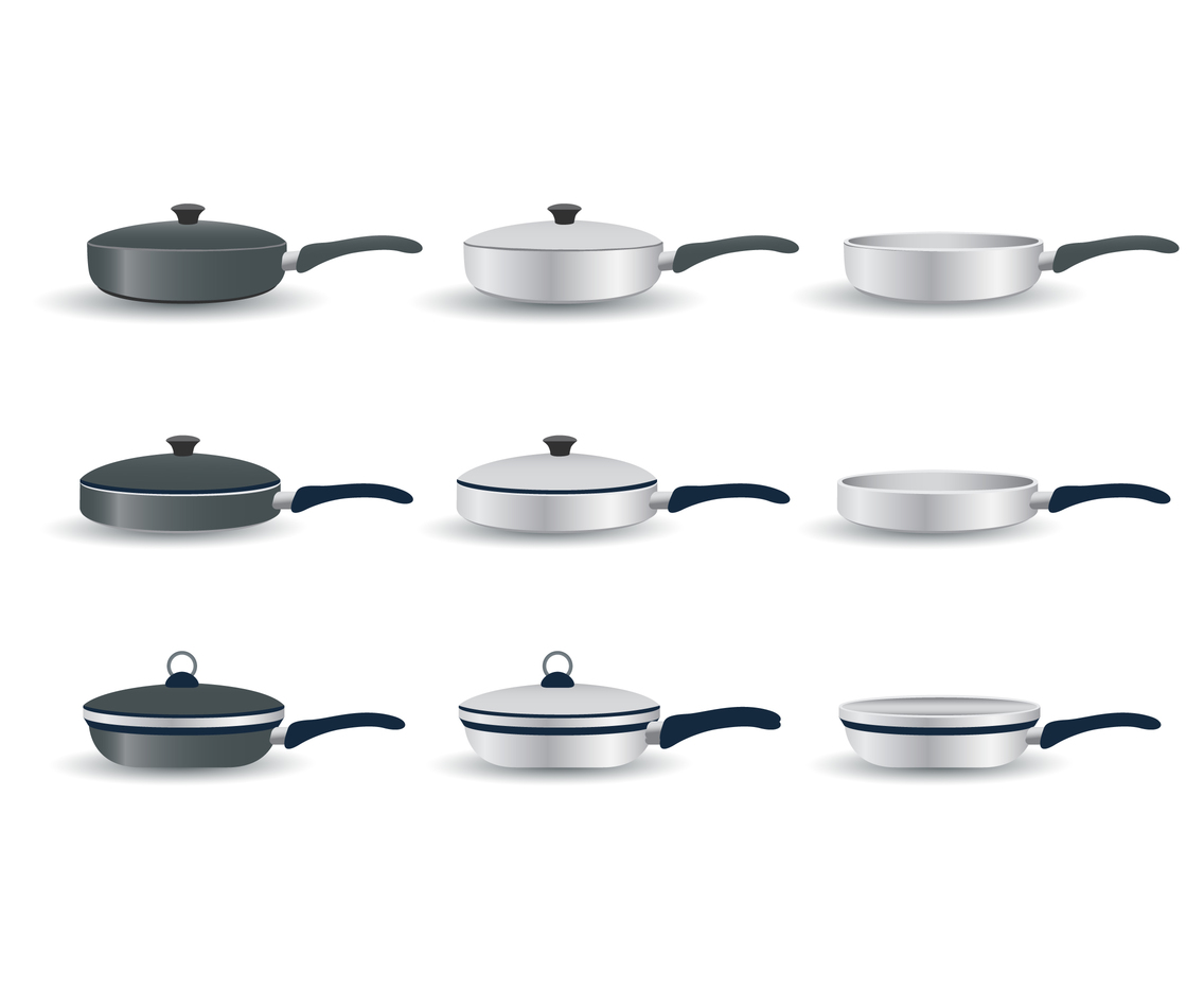 Stainless Pots and Pans Vector Pack