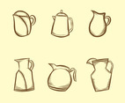 Sketchy Jug Vector