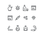 Drugs Outlined Set Icons