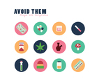 Colorful Set Of Drugs Related Icons