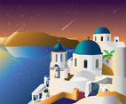 Santorini Vector Art