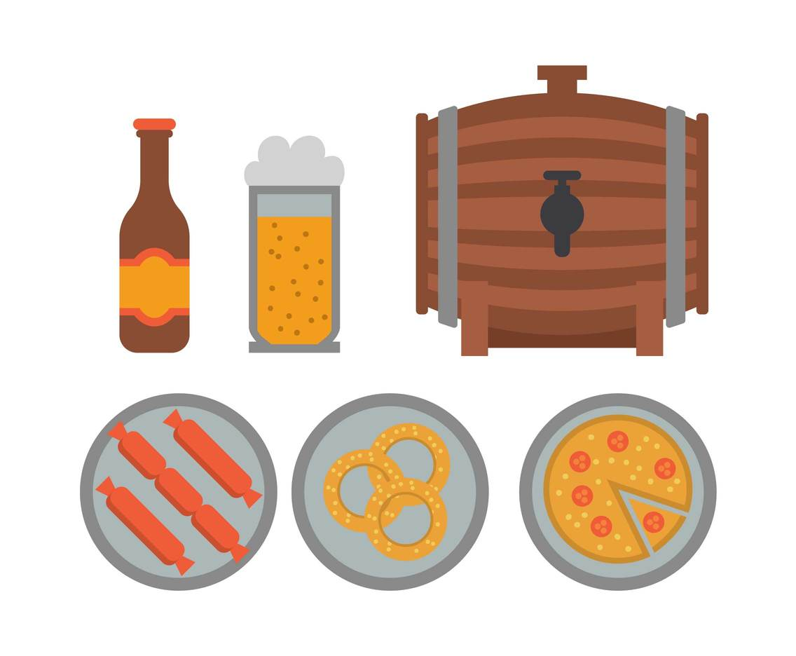 Oktoberfest Icon Vector Set
