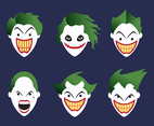 Joker Head Vector
