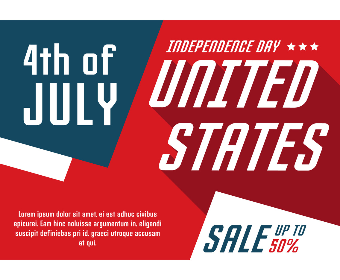 Independence Day Sale Poster