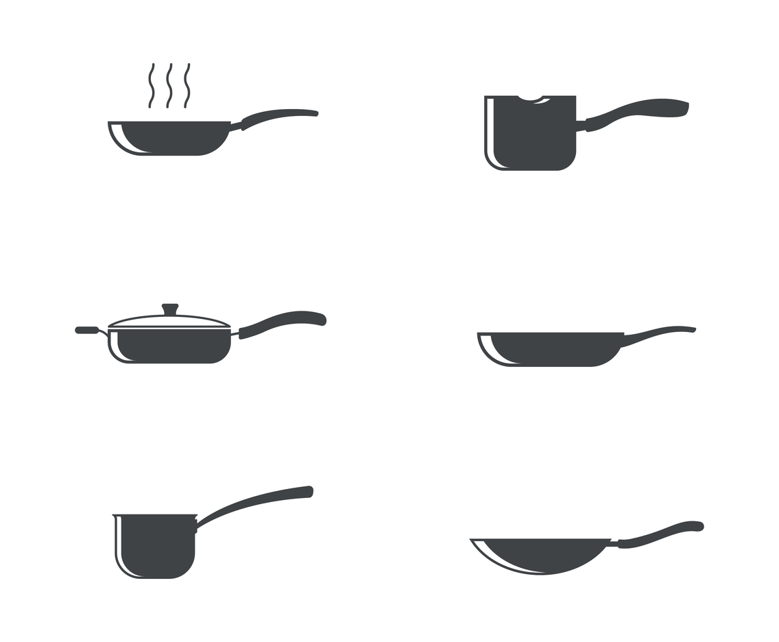Silhouette Pan Icon Logo Vector