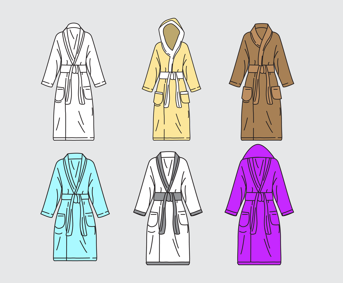 Silk Bathrobe Vectors