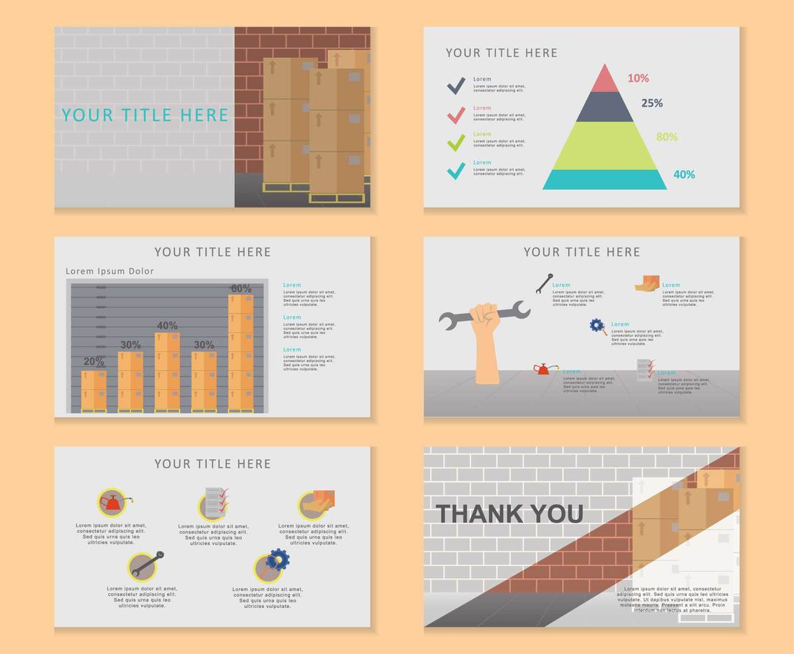 Engineering Presentation Infographic Element Illustrations
