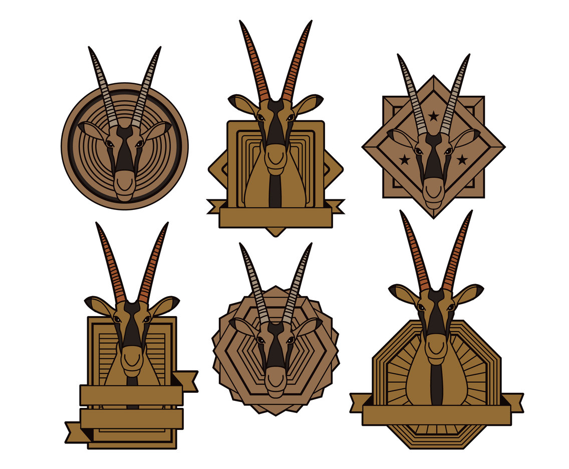 Oryx Badge Vector Set