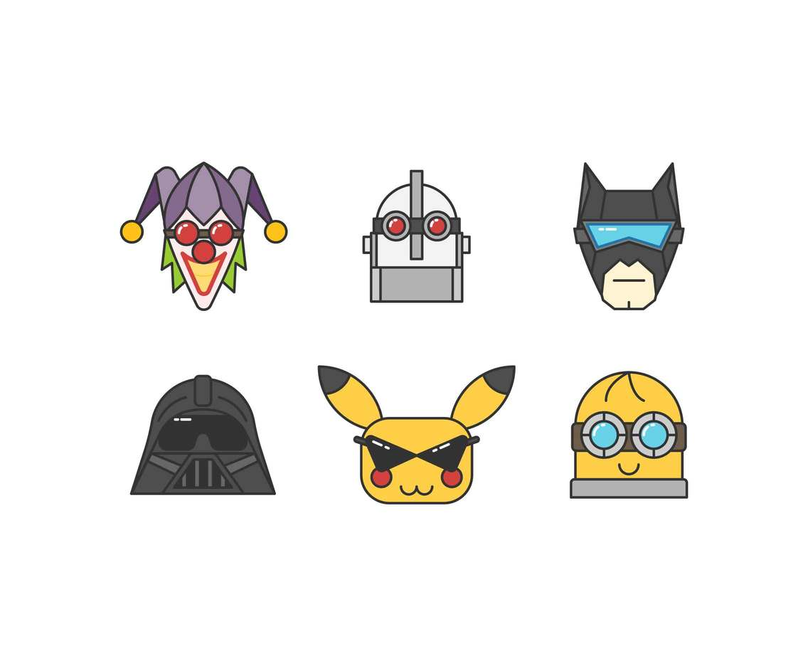 Free Marvelous Pop-Culture Mask Vectors