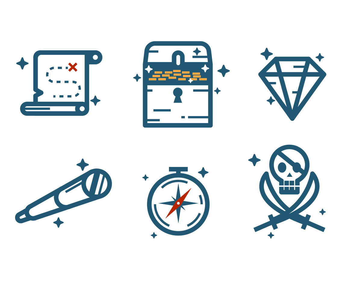 Cool Treasure Icon Vector