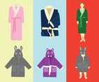 Bathrobe Vector Pack