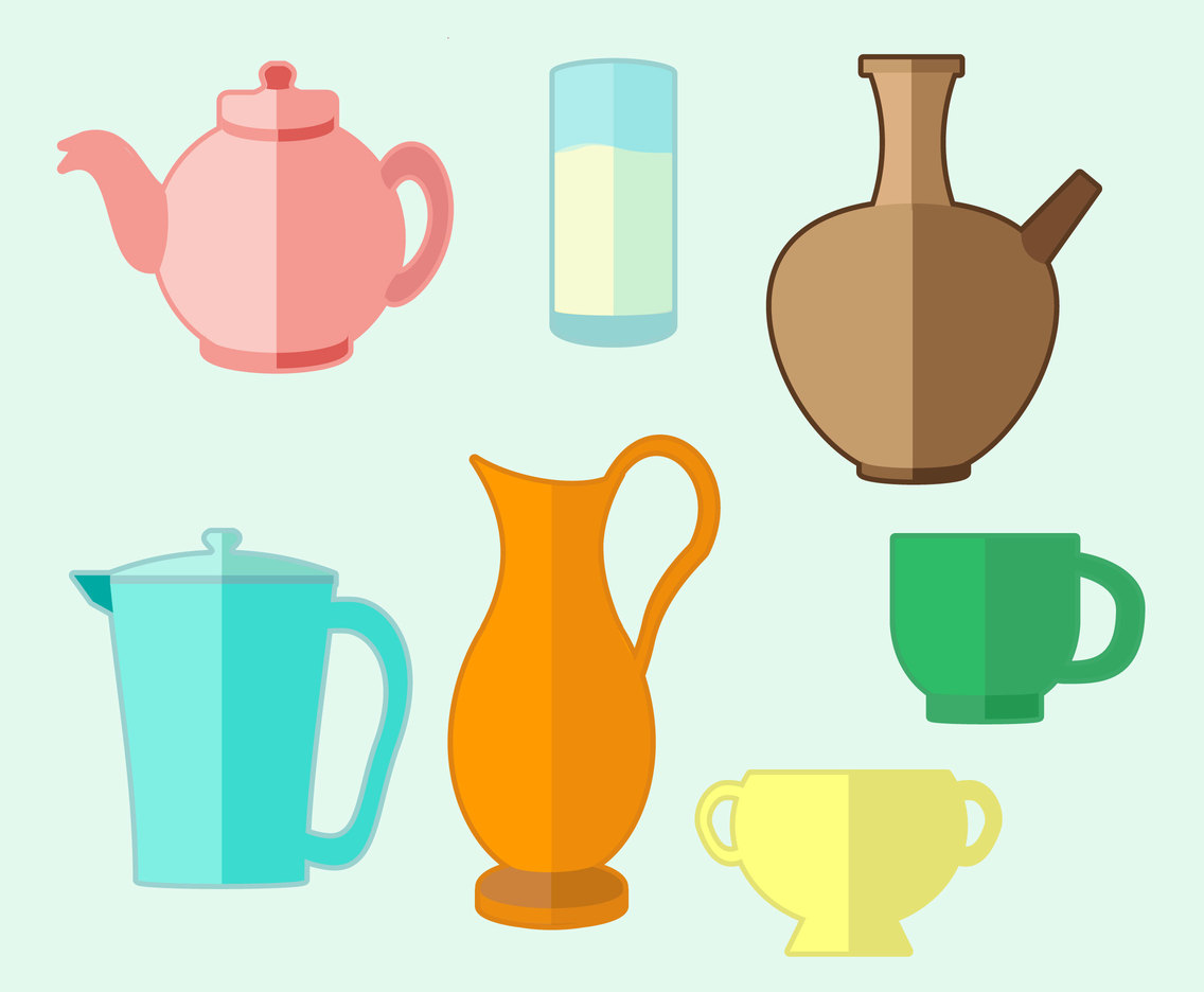 Various Drink Container Vector