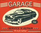 Car Service Retro Vector Poster