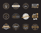 Beer Retro Badges Collection Vector